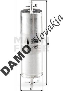Palivový filter MANN FILTER WK 516