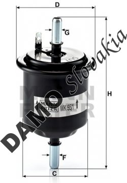 Palivový filter MANN FILTER WK 55/1