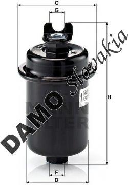 Palivový filter MANN FILTER WK 612/4