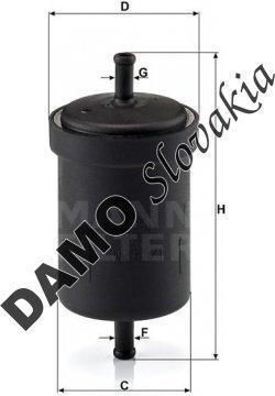 Palivový filter MANN FILTER WK 613/1