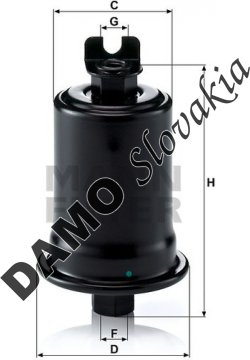 Palivový filter WK 614/30