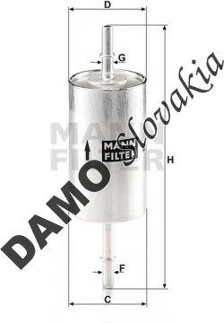 Palivový filter MANN FILTER WK 614/46