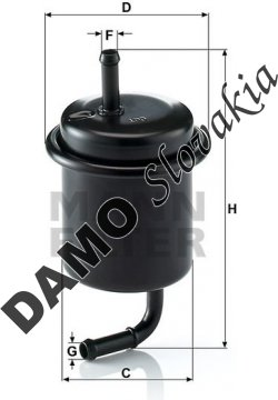 Palivový filter WK 614/47