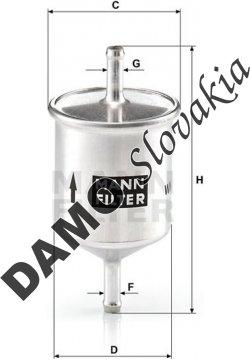 Palivový filter MANN FILTER WK 66