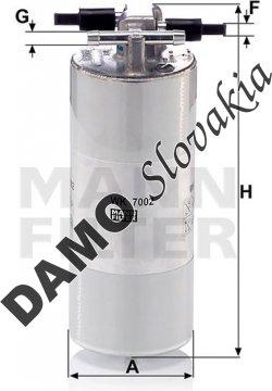 Palivový filter MANN FILTER WK 7002