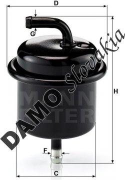 Palivový filter MANN FILTER WK 710