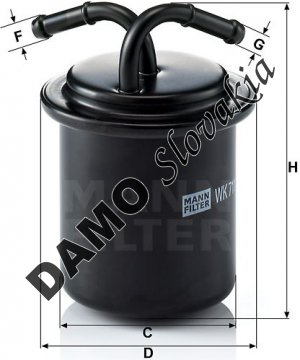 Palivový filter MANN FILTER WK 711