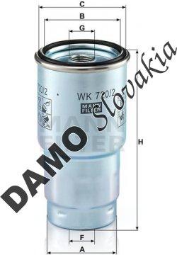 Palivový filter WK 720/2 x