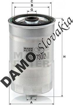 Palivový filter MANN FILTER WK 730/2 x