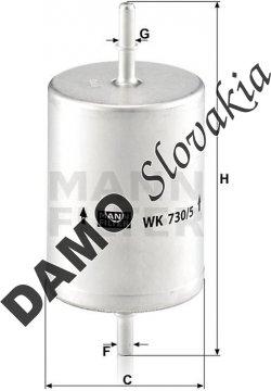 Palivový filter MANN FILTER WK 730/5