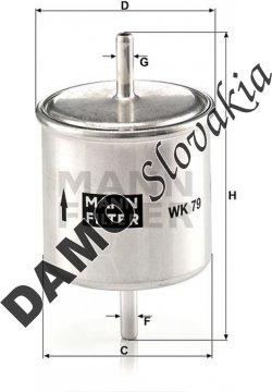 Palivový filter MANN FILTER WK 79