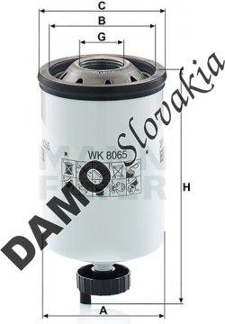 Palivový filter MANN FILTER WK 8065