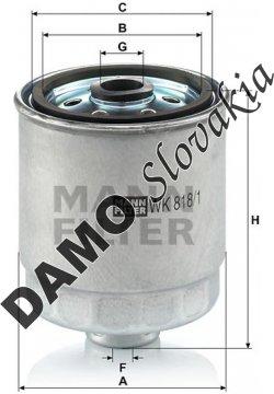 Palivový filter WK 818/1