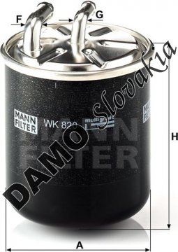 Palivový filter WK 820