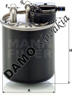 Palivový filter MANN FILTER WK 820/21