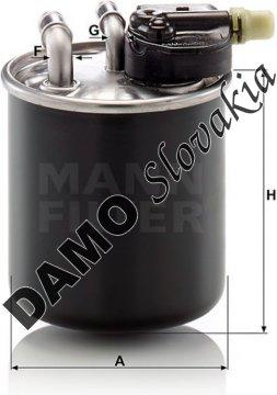Palivový filter MANN FILTER WK 820/22