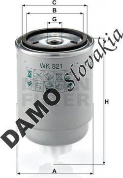 Palivový filter WK 821