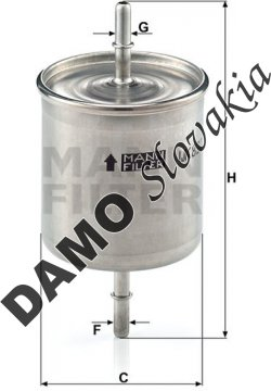 Palivový filter MANN FILTER WK 822/2