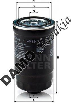 Palivový filter MANN FILTER WK 824/1
