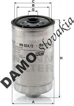 Palivový filter MANN FILTER WK 824/2