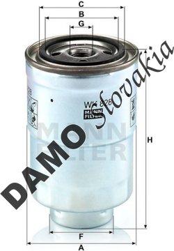 Palivový filter MANN FILTER WK 828 x
