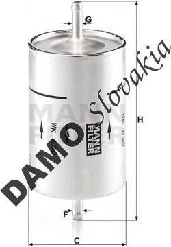 Palivový filter WK 830