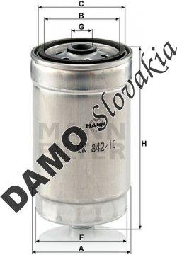 Palivový filter MANN FILTER WK 842/10