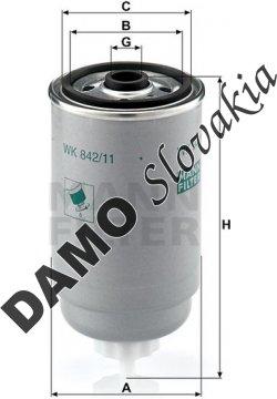 Palivový filter WK 842/11