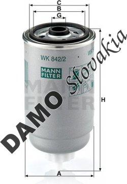 Palivový filter WK 842/2