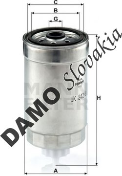 Palivový filter MANN FILTER WK 842/8