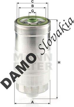 Palivový filter MANN FILTER WK 845/1
