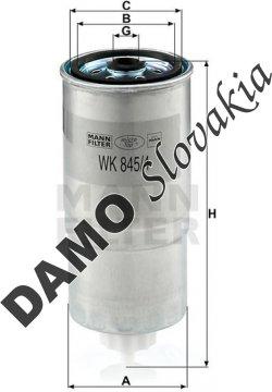 Palivový filter MANN FILTER WK 845/4
