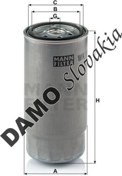 Palivový filter MANN FILTER WK 845/8