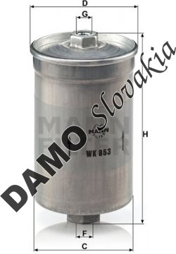 Palivový filter MANN FILTER WK 853