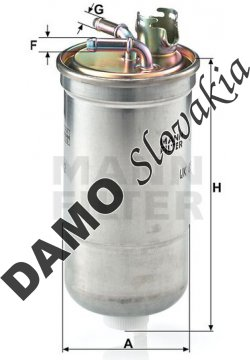 Palivový filter WK 853/12