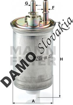 Palivový filter MANN FILTER WK 853/18