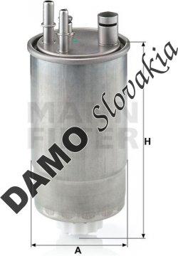Palivový filter MANN FILTER WK 853/20