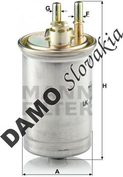 Palivový filter MANN FILTER WK 853/7