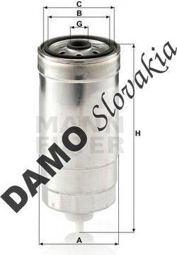 Palivový filter MANN FILTER WK 853/8