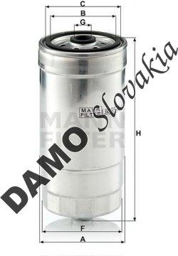 Palivový filter MANN FILTER WK 854/1