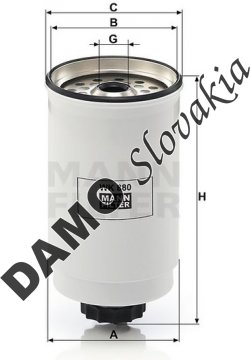 Palivový filter WK 880