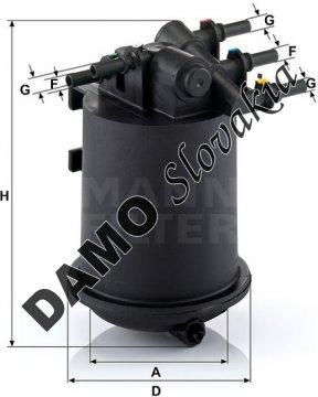 Palivový filter MANN FILTER WK 939/1