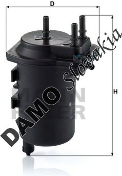 Palivový filter MANN FILTER WK 939/4