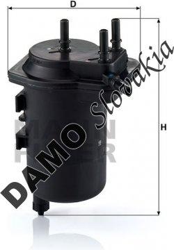 Palivový filter MANN FILTER WK 939/5
