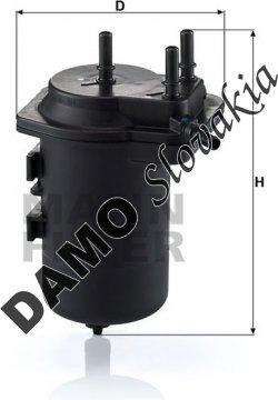 Palivový filter MANN FILTER WK 939/7