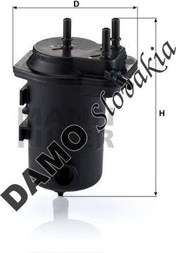 Palivový filter MANN FILTER WK 939/8 x