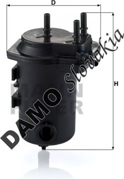 Palivový filter MANN FILTER WK 939/9 x