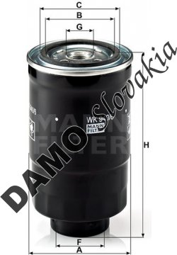 Palivový filter MANN FILTER WK 940/6 x