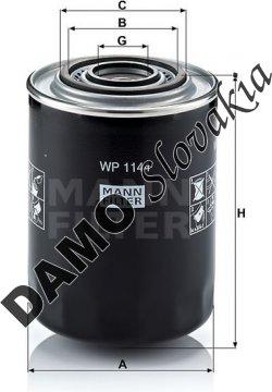 Olejový filter MANN FILTER WP 1144