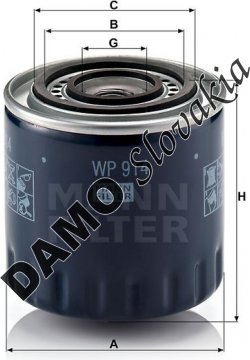 Olejový filter WP 914